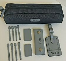 Tumi Accent Kit Luggage Tag Monogram Patch ZIPPER Pulls Accessory Bag Ship
