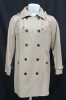 Michael Kors Women's Khaki Double-Breasted Removable Hood Trench Coat Size XL