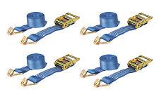 4 x 2000kg 50mm x 7m Heavy Duty RATCHET STRAP Tie Down 2 Ton (2500kg webbing)