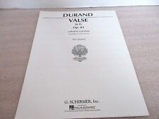 DURNAD VALSE in E Flat~Opus 83~Edited by Carl Deis~for Piano~G. Schirmer