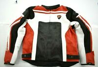 Ducati Corse C4 Leather CE Protection Riding Motorcycle Motorbike Jacket XL
