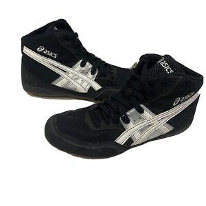 ASICS  Matflex C921Y GS Wrestling Shoes White/BLACK/SILVER Size 5.5