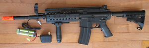 Full Metal Body & Gearbox M4S Airsoft Electric Gun System BB up to 400 FPS