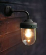 Stylish Garden Trading Outdoor Wall Light Modern Barn Lamp in Matt Black