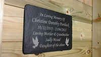 1st 4 Signs Memorial Slate Plaque - Personalised 4 your loved one - Grave Marker