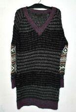 Rag & Bone Fair Isle Sweater Dress Sz M Alpaca Wool blend