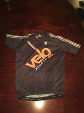 "Squadra Gray Men's X-Large Full Zip Up Cycling Shirt ""Velo Hanger. Tl7"