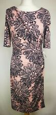 Connected Apparel Womens Midi Dress, Size 10, Pink Mix, New With Tags