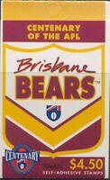 Australia booklet 1996 SG1607 45c AFL Brisbane MNH