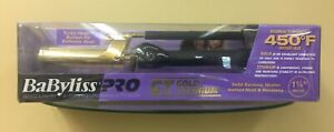 NEW BaByliss Pro Profession GT Gold Titanium 1 1/4 In Iron 450 Degree Marcel