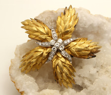 Authentic Vintage Hammerman Brothers 18K Gold and Diamond Starfish  Pin