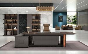 Eckschreibtisch Büro Einrichtung Chef Zimmer Möbel Design Schreibtische Möbel