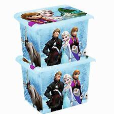 2 x Coffre à jouets à boîte Fashion-Box Disney Princesse des neiges 20 L