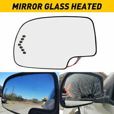 for 2003-07 Chevy GMC Cadillac Turn Signal Mirror Glass Heated LH Driver Side US