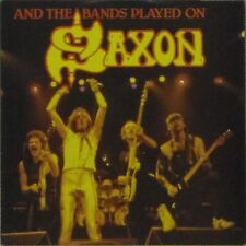 "SAXON 'AND THE BANDS PLAYED ON' UK PICTURE SLEEVE 7"" SINGLE"