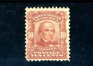 USAstamps Unused FVF US Serie of 1902 Webster Scott 307 NG