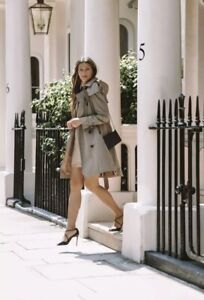 NWT AUTH BURBERRY BRIT  Cnallasipan TRENCH DOUBLE BREASTED  Size US 2