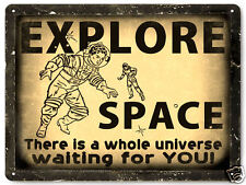 SPACE Astronaut NASA METAL SIGN kids child gift funny vintage style decor 091