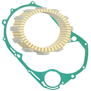 Clutch Friction Plates W/Gasket for Yamaha XVS1100A V-Star 1100 Classic 2000-09