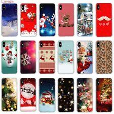 Navidad Estuche Cubierta para iPhone 7 Plus 6 8 6S 5S X XS Max N4331 a prueba de golpes
