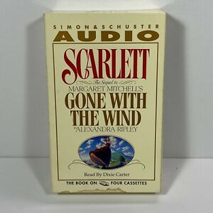Scarlett Audio Sequel To Gone With The Wind 4 Cassette Tapes By Alexandra Ripley