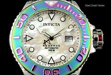 Invicta 50MM Reserve Grand Diver Swiss Made Automatik irisierende Lünette MOP Watch