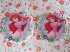2 x Large Mermaid Princess Ariel Flatback Planar Resin Embellishment Hair bow UK