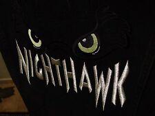 Mens Womens Rare Nighthawk Lee Black Denim Jean Jacket Cotton Large Biker