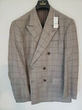 Brooks Brothers 1818 Double Breasted Silk Blend Jacket NWT 42r STUNNING
