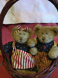 """Russ Patriotic Lincoln and Starbrite  10"""" Bears"""