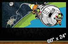 "HUGE 60""x24"" KERBAL SPACE PROGRAM *new* collectible poster wall art gamer toon"