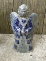 Vintage Rowe Pottery Works Salt Glazed Angel Tree Topper #04252015 MINT