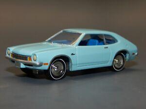 Johnny Lightning 1/64 scale 1970 Ford Pinto Pale Blue Original Economy Car RARE