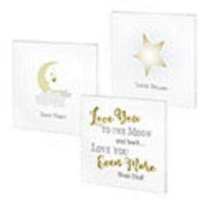 Set of 3 Love You to the Moon and Back Canvases