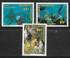 STAMPS-FRENCH POLYNESIA. 1991. Christmas Under The Sea Set. SG: 628/30. MNH