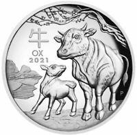 2021 YEAR OF THE OX HIGH RELIEF Silver Proof Coin