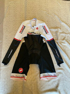CASTELLI Cycling Long Sleeve Skinsuit BRAND NEW ROSSOCORSA ORIGINAL SIZEL Unisex