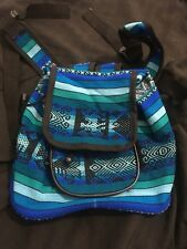 Small Indigo Hippie Hand Made Tribal Design Back Pack w/ Adjustable Straps