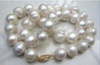 """HUGE AAA+ 10-11MM South Sea White Baroque Pearl Necklace 18"""""""