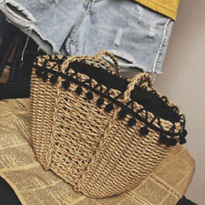 Womens Tote Shopping Beach Bag Straw Woven Shoulder Purse Handbag casual Shopper