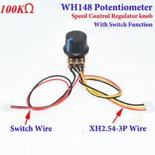100k B100k 100kb Pot Knob Ohm Linear Taper Rotary Potentiometer Onoff Switch