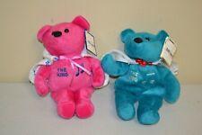 "ELVIS-A-RAMA Museum Bear ELVIS PRESLEY ""THE KING"" w/ Tags Beanie Lot of 2"