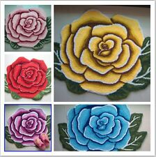 5 Color Roses Floral Hand Embroidery Non-skid Country Style Floor Runner/rug/mat