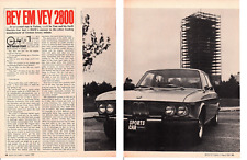 1969 BMW 2800 ~ ORIGINAL 4-PAGE ROAD TEST / ARTICLE / AD