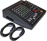 6 KANAL POWERMIXER 1600 Watt mit Lautsprecherkabel 2 x 10 m 2,5²mm SONDERAKTION