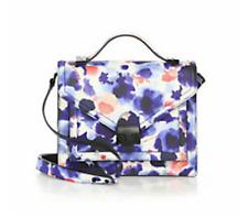 NWT Loeffler Randall Ink Floral Leather Medium Rider Satchel handbag