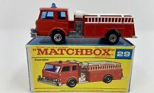 Matchbox Superfast No. 29 Fire Pumper Truck in Original Box