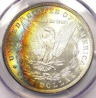 1887 Toned Morgan Silver Dollar $1 - Certified PCGS MS65 - Nice Rainbow Toning!