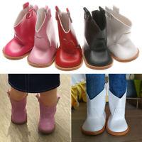 Geschenke zum Geburtstag 18 Inch Doll Boots für Puppen PU Lederschuhe Schuhe