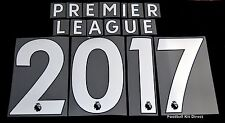 Premier League 2017/18 White Letter Name for Football Shirts Sporting ID
